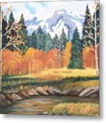 Autumn In The Mountans Metal Print