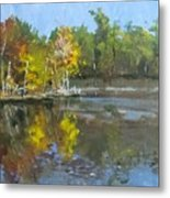 Autumn In The Rock Quarry Metal Print