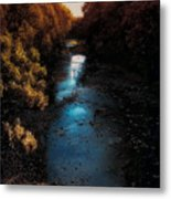 Autumn In The Tributary Metal Print