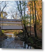 Autumn In Valley Forge - Knox Covered Bridge Metal Print