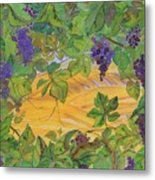 Autumn In Wine Country Metal Print by Carolyn Doe