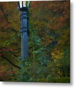 Autumn Lamp Metal Print