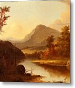 Autumn Landscape George Henry Durrie Metal Print