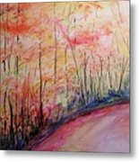 Autumn Lane II Metal Print