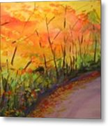 Autumn Lane IIi Metal Print