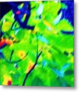 Autumn Leaf Abstract Metal Print