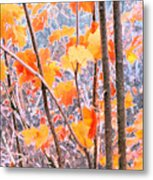 Autumn Leaves 2 Pdae Metal Print