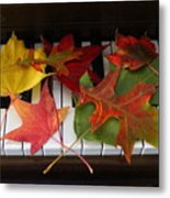 Autumn Leaves - A Love Song Metal Print