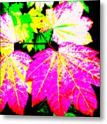 Autumn Leaves Holiday Style Metal Print