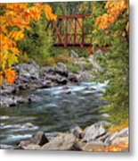 Autumn Leaves Keep Falling Metal Print