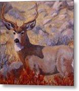 Autumn Majesty Metal Print by Debra Mickelson
