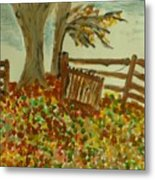 Autumn Metal Print by Marie Bulger