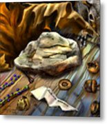 Autumn Memoirs-squirrels In The Attic Metal Print