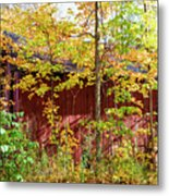 Autumn Michigan Barn  Metal Print