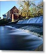 Autumn Mill Portrait Metal Print