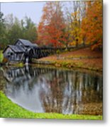 Autumn Mill Metal Print
