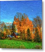 Autumn Moon Rising Metal Print