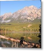 Autumn Morning At Pyramid Mountain Metal Print