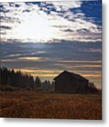 Autumn Morning On The Fields Metal Print