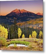 Autumn Mountain Landscape, Colorado, Usa Metal Print