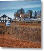 Autumn On A Rural Farm Metal Print