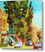 Autumn On Bagg Street Metal Print