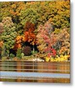 Autumn On Canoe Brook Lake Metal Print