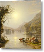 Autumn On Greenwood Lake Metal Print