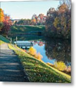 Autumn On Lake Inspiration Metal Print