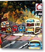 Autumn On The Boulevard Metal Print