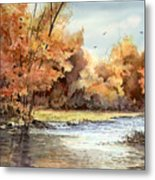 Autumn On The Buffalo Metal Print