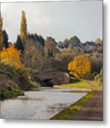 Autumn On The Canal Metal Print