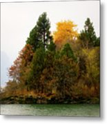 Autumn On The Columbia Metal Print