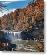 Autumn On The Cumberland  Cumberland Falls Metal Print