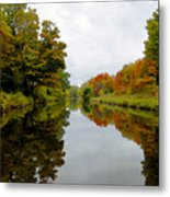 Autumn On The Erie Canal Metal Print