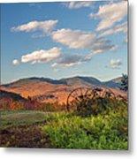 Autumn On The Farm Panorama Metal Print