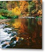 Autumn On The Merced River Yosemite Np Metal Print
