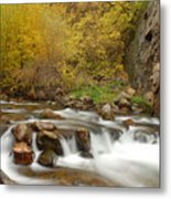 Autumn on the Provo River Metal Print