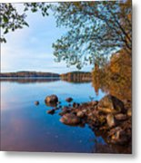 Autumn On The Rocks Metal Print