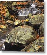Autumn On The Rocks Metal Print