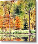 Autumn Oranges Metal Print