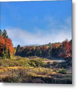 Autumn Panorama At The Green Bridge Metal Print