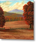 Autumn Pastures Metal Print