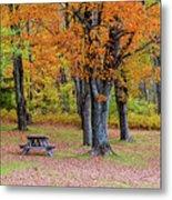 Autumn Picnic Metal Print