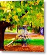 Autumn Playground 1 Metal Print