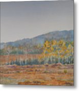 Autumn Poplars Metal Print