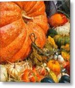 Autumn - Pumpkin - All Of My Relatives Metal Print