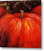 Autumn Pumpkins Metal Print