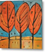 Autumn Quilt Metal Print