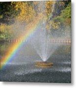 Autumn Rainbow Metal Print